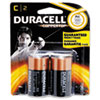 CopperTop Alkaline Batteries with Duralock Power Preserve Technology, C, 2/Pack
