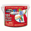 Crayons, Classic Colors, Resealable Bucket with Sharpener, 151/Pk