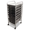 Portable Drawer Organizer, 15-1/2w x 13d x 32h, Chrome/Smoke