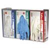 San Jamar Clear Plexiglas Disposable Glove Dispenser, Three-Box, 18w x 3 3/4d x 10h