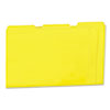 Colored File Folders, 1/3 Cut One-Ply Top Tab, Letter, Yellow, 100/Box