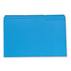Colored File Folders, 1/3 Cut One-Ply Top Tab, Legal, Blue, 100/Box