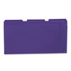 Colored File Folders, 1/3 Cut One-Ply Top Tab, Legal, Violet, 100/Box