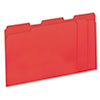 Colored File Folders, 1/3 Cut One-Ply Top Tab, Letter, Red, 100/Box