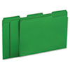 Universal One Colored File Folders, 1/3 Cut One-Ply Tab, Letter, Green, 100/Box