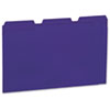 Colored File Folders, 1/3 Cut One-Ply Top Tab, Letter, Violet, 100/Box