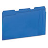 Universal One Colored File Folders, 1/3 Cut One-Ply Top Tab, Letter, Blue, 100/Box