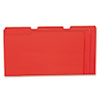 Colored File Folders, 1/3 Cut One-Ply Top Tab, Legal, Red, 100/Box