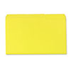 Colored File Folders, 1/3 Cut One-Ply Top Tab, Legal, Yellow, 100/Box