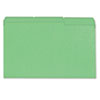Colored File Folder, 1/3 Cut One-Ply Tab, Legal, Bright Green, 100/Box