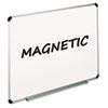 Magnetic Dry Erase Board, Melamine, 48 x 36, White, Aluminum/Plastic Frame