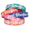 Two-Toned Star Student Wristbands, Assorted Colors, 10/Pack