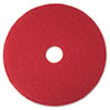 "Buffer Floor Pad 5100, 17"", Red, 5 Pads/Carton"