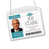 Photo ID Badge Holder, Horizontal, 4w x 3h, Clear, 100/Box