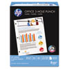 HP Office Paper, 92 Brightness, 3-Hole Punched, 20lb, 8-1/2 x 11, White, 500/Ream