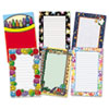 Notepad Set, School/Seasonal Theme, 6 50-Sheet Pads/Set