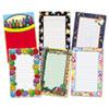 Teacher Created Resources Notepad Set, School/Seasonal Theme, 6 50-Sheet Pads/Set