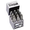 "Standard Steel Hand Stamp Set, 1/8"", Number"