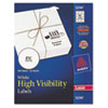 High-Visibility Round Laser Labels, 2-1/2in dia, White, 300/Pack
