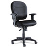Alera Wrigley Series Mesh Mid-Back Chair, Black