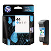 51644C (HP 44) Ink Cartridge, 1600 Page-Yield, Cyan