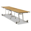 Folding Mobile Table, Rectangular, 144w x 30d, Gray Nebula