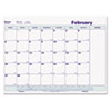Write-On Cling-On Poly Monthly Calendar, 17 x 22, White, 2014