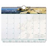 Day-Timer Coastlines Tabbed 12-Month Wirebound Wall Calendar, 11 x 8-1/2, 2013