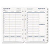 Original Dated Weekly/Monthly Planner Refill, Jan.-Dec., 4-1/4 x 6-3/4, 2013