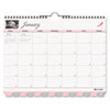 Pink Ribbon Tabbed Monthly Wall Calendar, 11 x 8-1/2, 2013