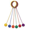 Champion Sports Swing Ball Set, Plastic, Assorted Colors, 6 per Set