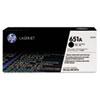 HP 651A, (CE340A) Black Original LaserJet Toner Cartridge