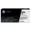 HP 651A, (CE341A) Cyan Original LaserJet Toner Cartridge