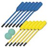 Champion Sports Soft Polo Set, Rhino Skin, Blue and Yellow, 12 Sticks/2 Balls