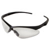 JACKSON SAFETY V30 NEMESIS Safety Eyewear, Black Frame, Clear Lens