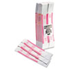 Self-Adhesive Currency Straps, Pink, $250 in Dollar Bills, 1000 Bands/Box