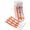 MMF Industries Self-Adhesive Currency Straps, Orange, $50 in Dollar Bills, 1000 Bands/Box