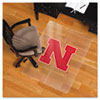Collegiate Chair Mat for Hard Floors, 48 x 36, Nebraska Cornhuskers