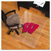 Collegiate Chair Mat for Hard Floors, 48 x 36, Wisconsin Badgers