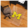 Collegiate Chair Mat for Hard Floors, 48 x 36, Michigan Wolverines