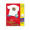 Personal Creations Inkjet T-Shirt Transfer, 8-1/2 x 11, White, 12/Pack