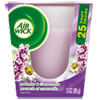 Air Wick 84531 Frosted Candle, Lavender & Chamomile, 3oz, White RAC84531 RAC 84531