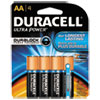 Ultra Power Alkaline Batteries with Duralock Power Preserve Technology, AA, 4/Pk