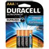 Ultra Power Alkaline Batteries with Duralock Power Preserve Technology, AAA,4/Pk