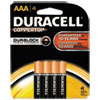 Duracell CopperTop Alkaline Batteries with Duralock Power Preserve Technology, AAA, 4/Pk