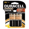 CopperTop Alkaline Batteries with Duralock Power Preserve Technology, 9V, 4/Pack