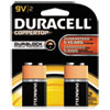 Duracell CopperTop Alkaline Batteries with Duralock Power Preserve Technology, 9V, 2/Pk