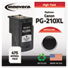 PG210XL Compatible, Remanufactured, 2973B001 (PG210XL) Ink, 401 Yield, Black
