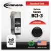 BCI3BK Compatible, Remanufactured, BCI-3BK (BCI3E) Ink, 400 Page-Yield, Black
