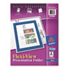 Flexi-View Two-Pocket Polypropylene Folders, Navy/Translucent, 2/Pack